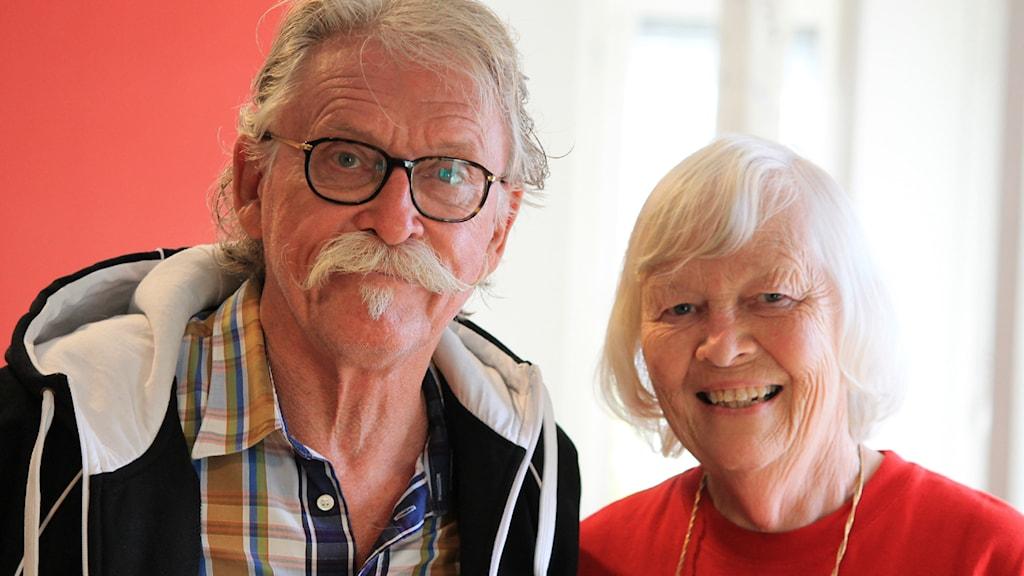 Per Olof Peterson och GunBritt Löfquist. Foto: Nick Näslund/Sveriges Radio