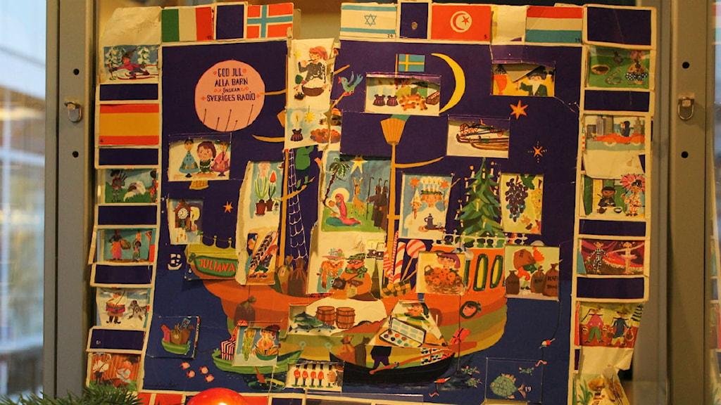 Julbåten i juliana Julkalender 1962