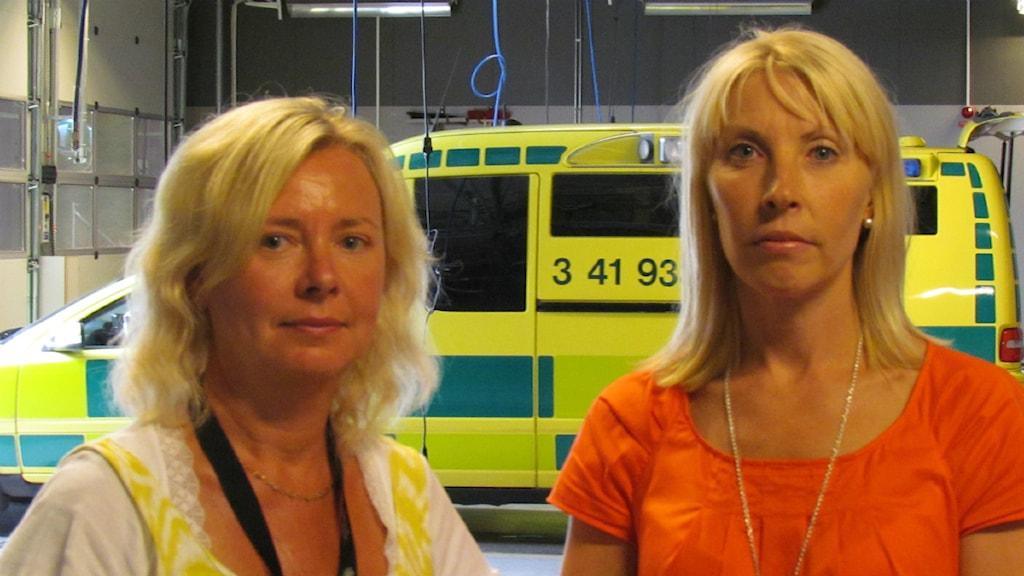 Birgitta Barkne Nilsson och Helena Söderquist. Foto Johannes Ledel Karreskog/Sveriges Radio
