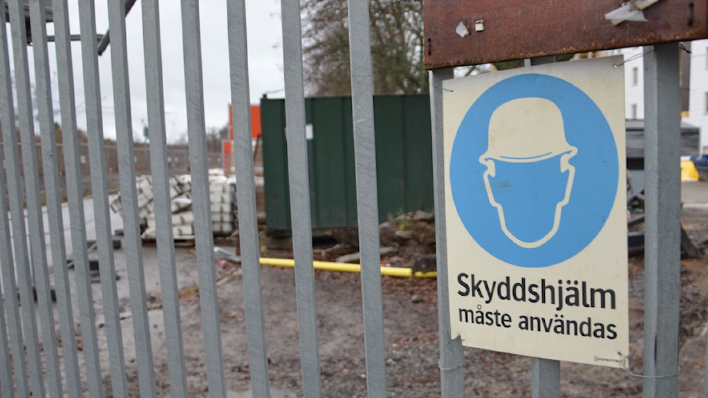 Byggarbetsplats. Foto: Andreas Jennersjö/Sveriges Radio