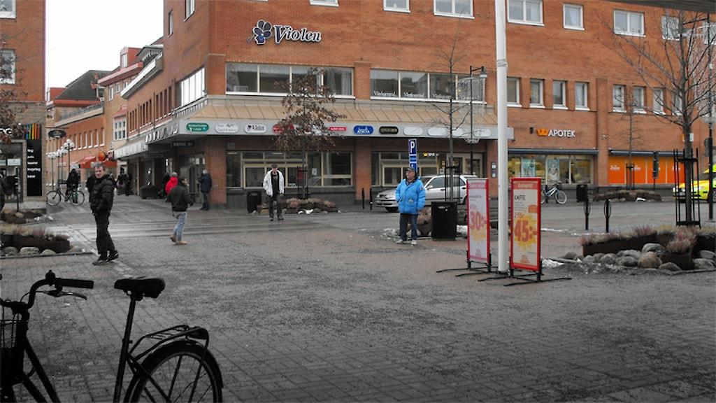 Flens centrum. Foto: Ida Lindhagen/Sveriges Radio.