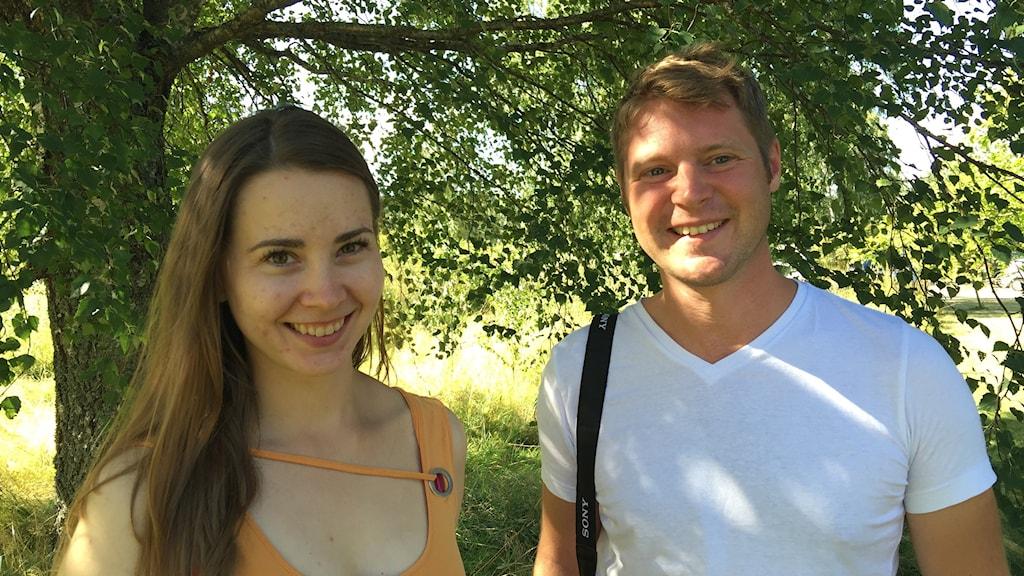 Joanna Dagniewska och Richard Walters från Reading University. Foto: Carin Vidner/Sveriges Radio