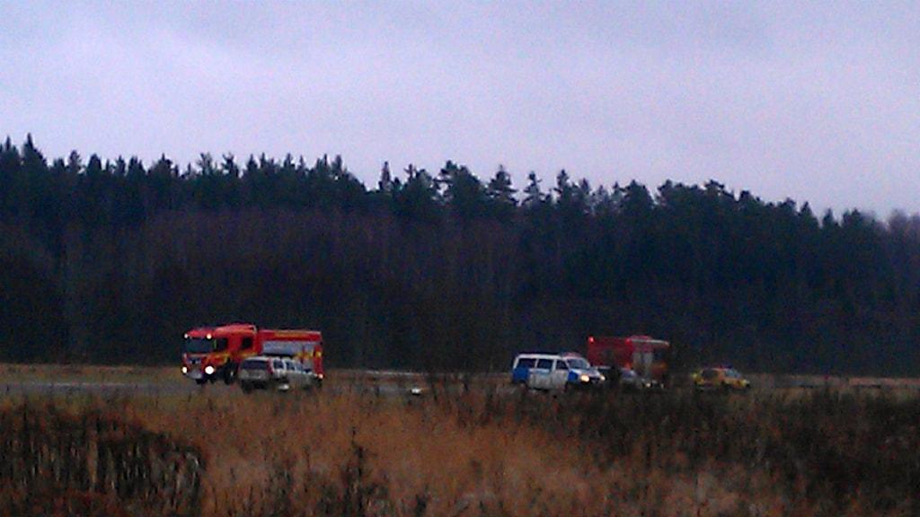Flygolycka i Arvika. Foto: Örjan Bengtzing.