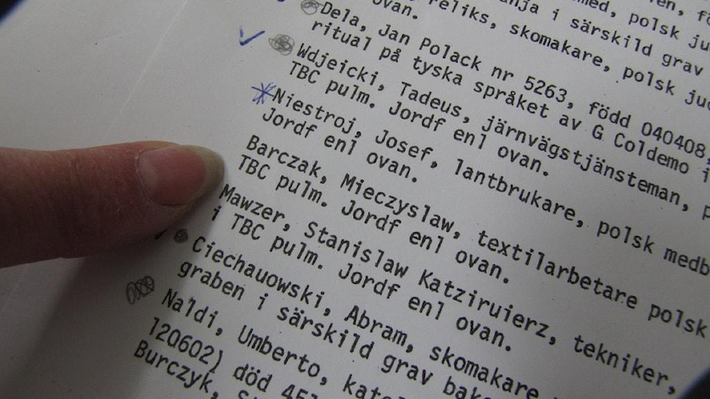 """Nu kan den hittills okände döde, i den 45:e graven, sägas ha """"kommit till rätta"""", och anhöriga i Polen kan få veta vad som hände honom. Foto: Katarina Hedström/SR Gotland"""