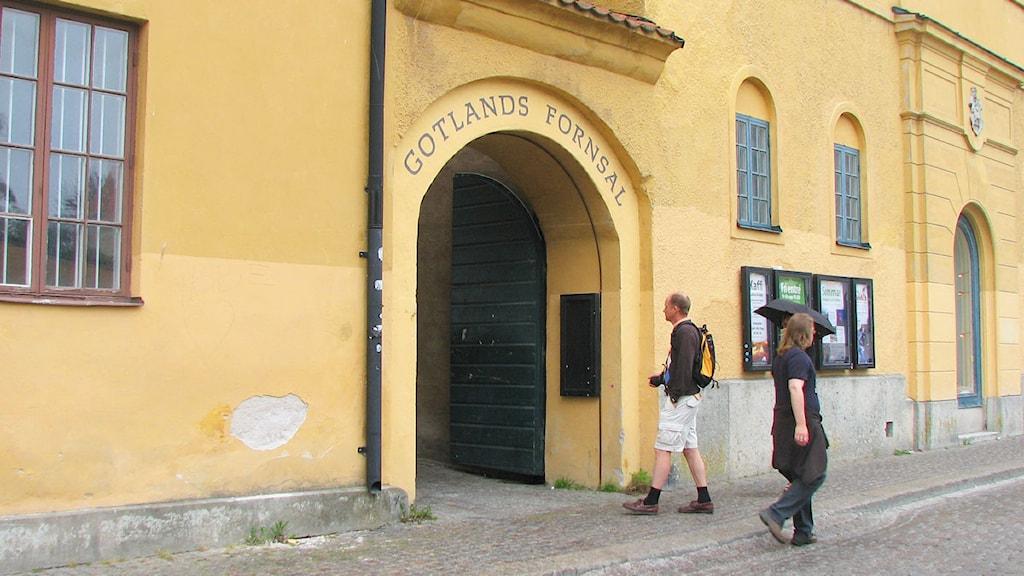 Gotlands fornsal. Foto: Frida Fernqvist/SR Gotland