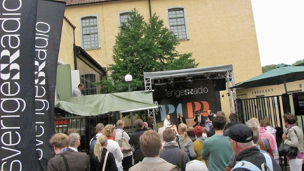 Sveriges Radios scen i Almedalen. Foto: Mika Koskelainen/SR Gotland