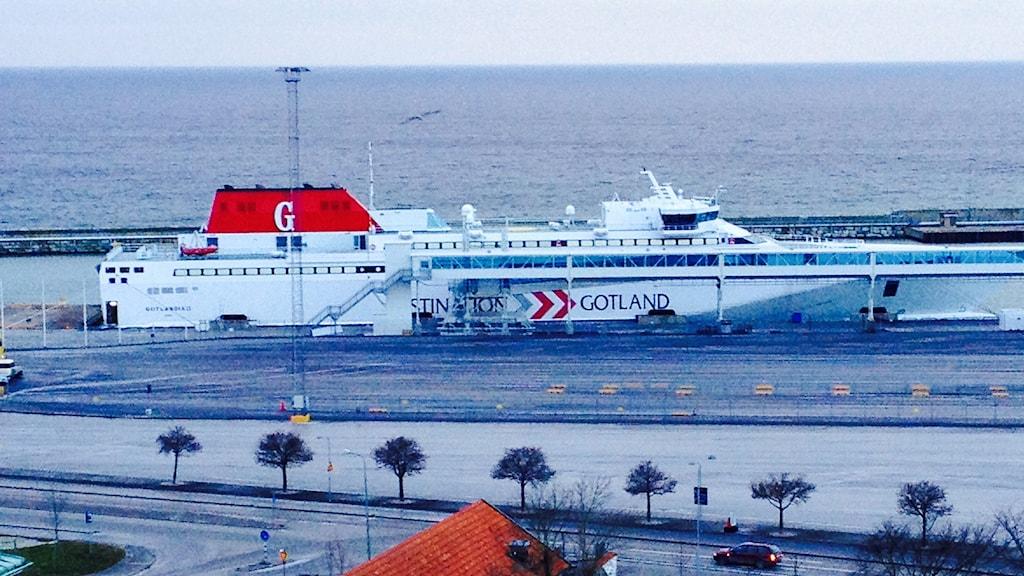 Gotlandia II i Visby hamn. Foto: Gunnar Britse