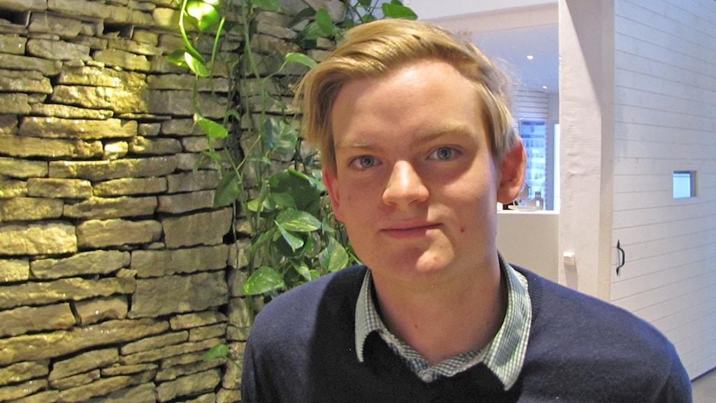 Gustav Åhlén. Foto: Sveriges Radio P4 Gotland