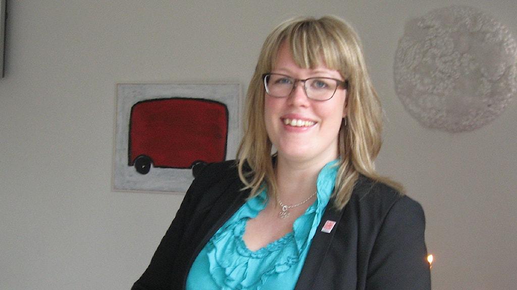 Lisa Dahlberg, kommunalråd för socialdemokraterna i Mark. Foto: Jan-Åke Thorell P4 Sjuhärad