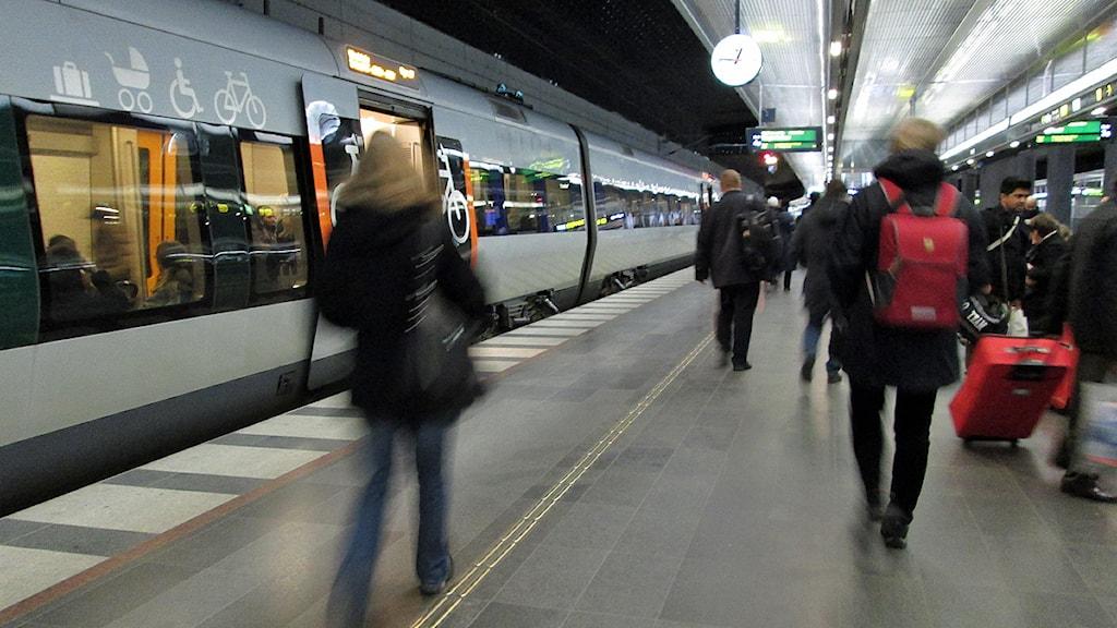 Polisen gör många inre utlänningskontroller på Malmö C. Foto: Anna Bubenko/Sveriges Radio