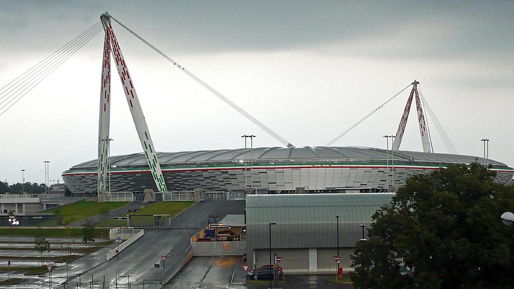 Juventus stadion, Turin. Foto; Hans Zillén/Sveriges Radio