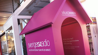 Sveriges Radios minivalstuga i Skövde 2014
