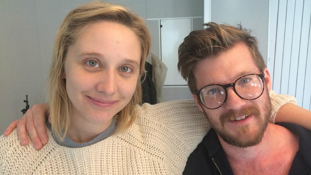 Nora Bredefeldt och Philip Lithner från Lule Stassteater. Foto: SR/Anton Bennebrant