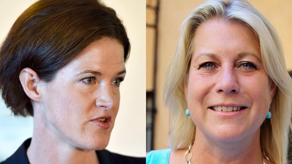 Anna Kinberg Batra och Catharina Elmsäter-Swärd. Foton: Roger Vikström och Annika af Klercker/TT.