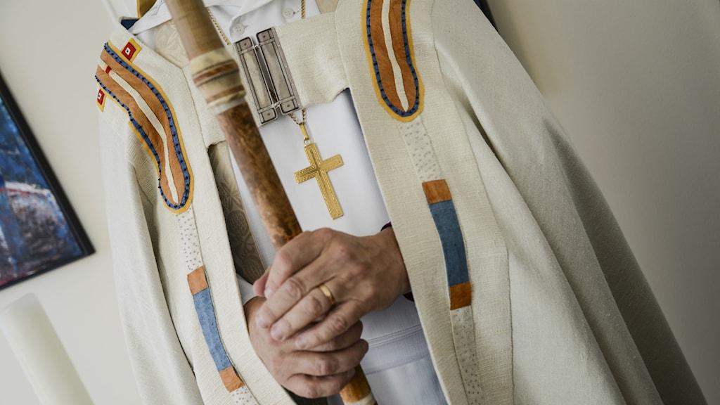 Den nya biskopsskruden framifrån. Foto: Emma Larsson/ Luleå stift.