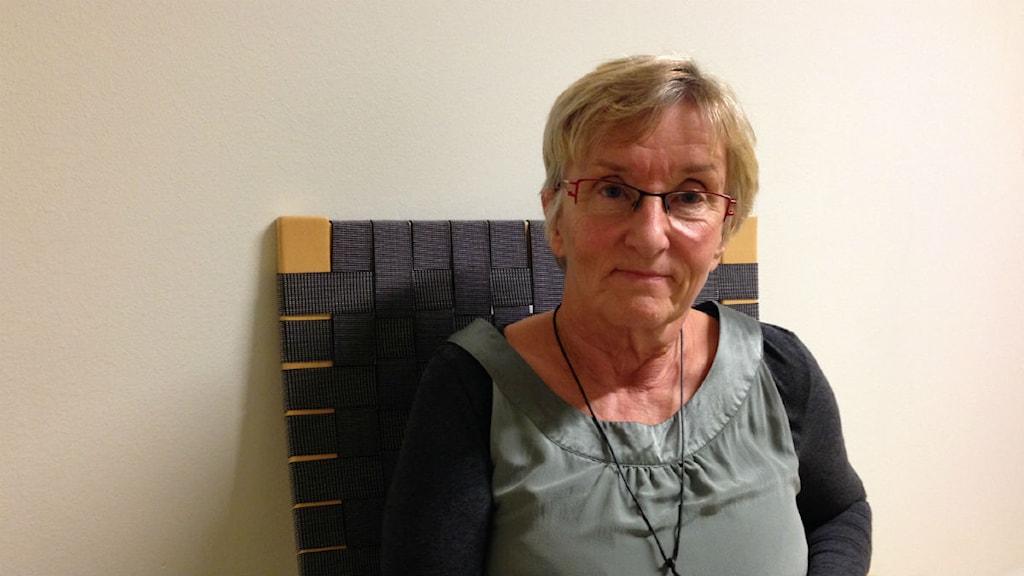 Margareta Jacobsson är datalärare och skyddsombud på Vuxenutbildningen i Luleå. Foto: Malin Winberg, Sveriges Radio.