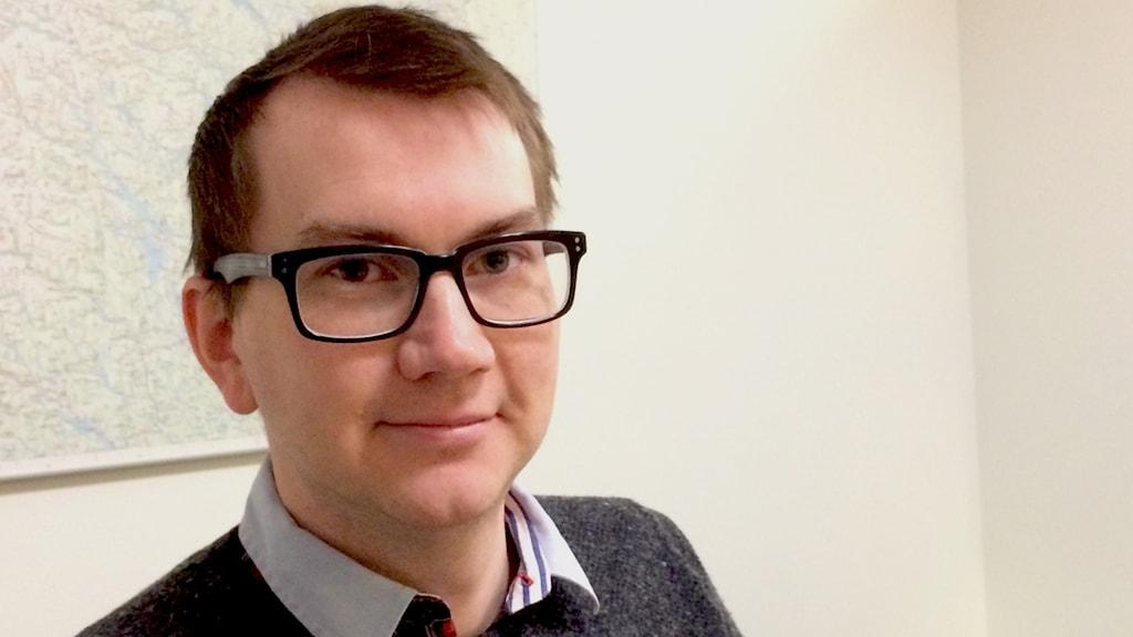 Rikard Aspholm handläggare av frågor som rör samhällsskydd på länsstyrelsen.