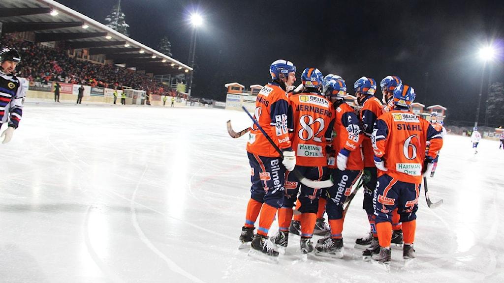 Bollnäs GIF vann tillslut matchen med 7-3. Foto Magnus Hansson/Sveriges Radio