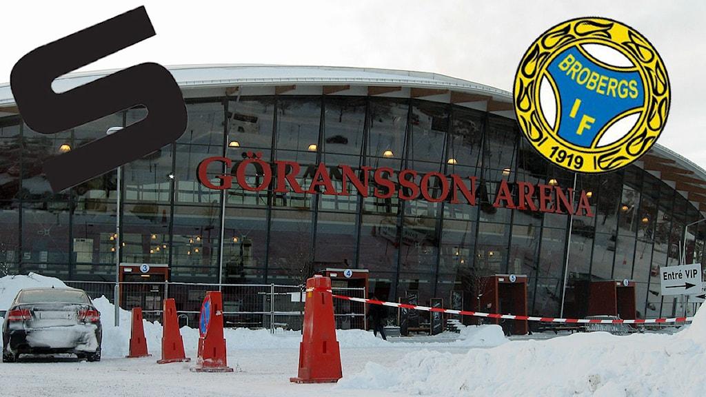 SAIK och Broberg drabbar samman i Göransson arena i kväll. Foto: Sveriges Radio Montage: SR.