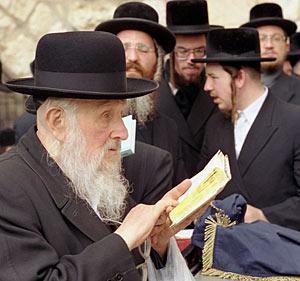 Judar vid Klagomuren